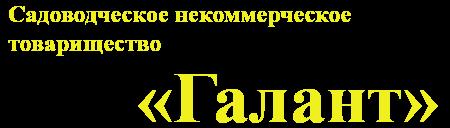 СНТ «Галант»